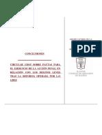 Circular Fiscalía 1-2015. Conclusiones Icam