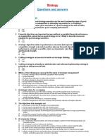 Strategic Management Multiple Choice Questions