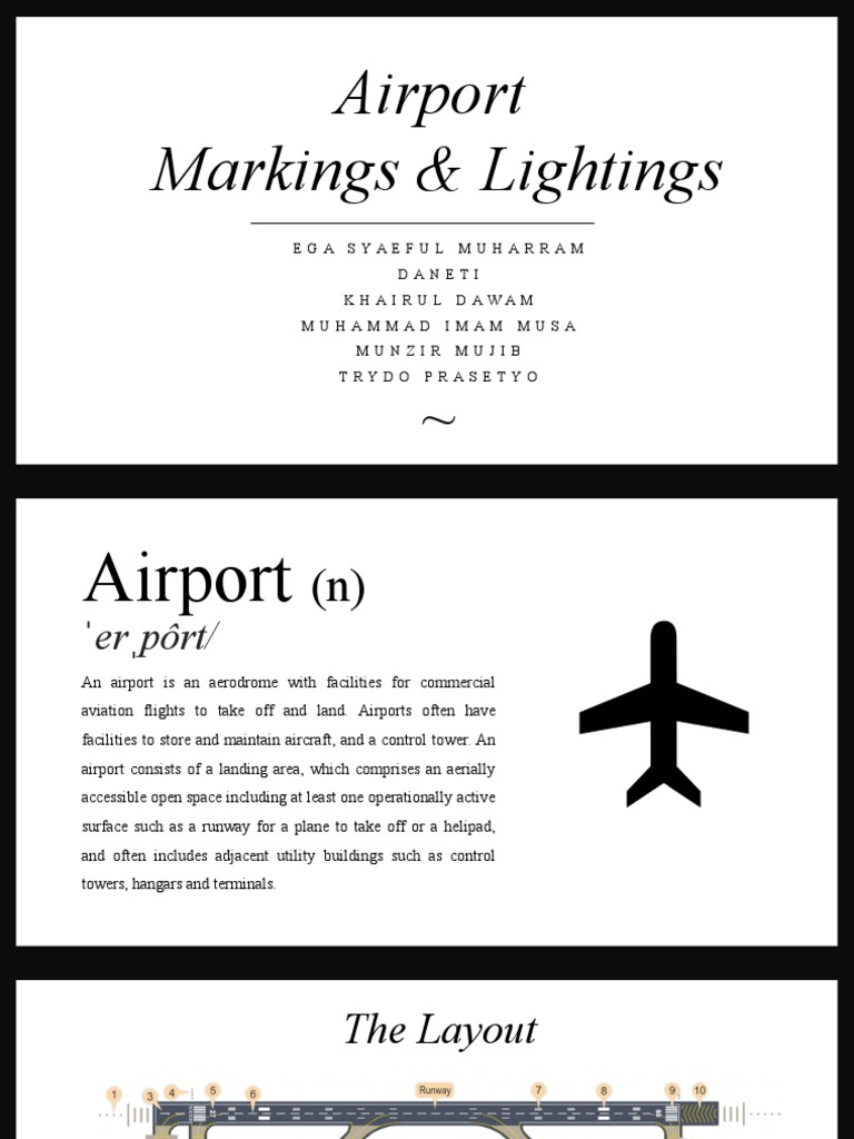 Ppt Airport Signs and Markings | Airport | Runway