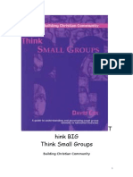Think Big Think Small Groups, A Guide to Understanding and Developing Small Group Ministry in Adventist Churches - David Cox