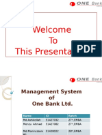 Management System of One Bank