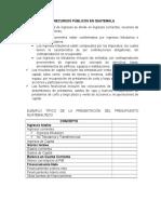 Los Recursos Públicos en Guatemala