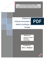 Indices Boursier Islamique