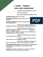 RESUMO Português, Livro Não Erre Mais.