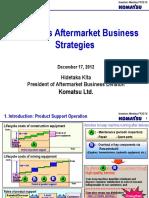 Komatsu's Aftermarket Business Strategy