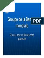 Presentation Banque Mondiale