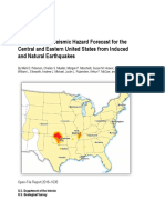 USGS 2016 Seismic Hazard Forecast from Induced and Natural Earthquakes