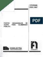 3323-97 Postes Hexagonales de acero para Alumbrado Publico