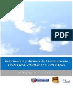 Información y Medios de Comunicación. CONTROL PUBLICO Y PRIVADO