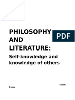 Philosophy and Literature