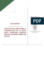 Circular Fiscalía 4-2015 Conclusiones Icam Sobre La Nueva Regla Penológica Prevista Para El Concurso Medial