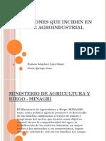Instituciones Que Inciden en El Sector Agroindustrial