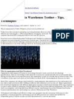 ETL _ Data Warehouse Testing Tips Challenges