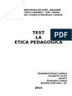 Etica pedagogică