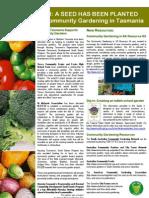 Newsletter - Tasmania's Community Garden Network - November 2004