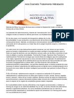 Oferta Radiofrecuencia Cosmetic Tratamiento Hidratación