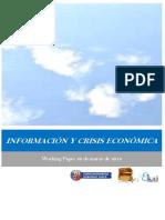 INFORMACION Y CRISIS ECONOMICA