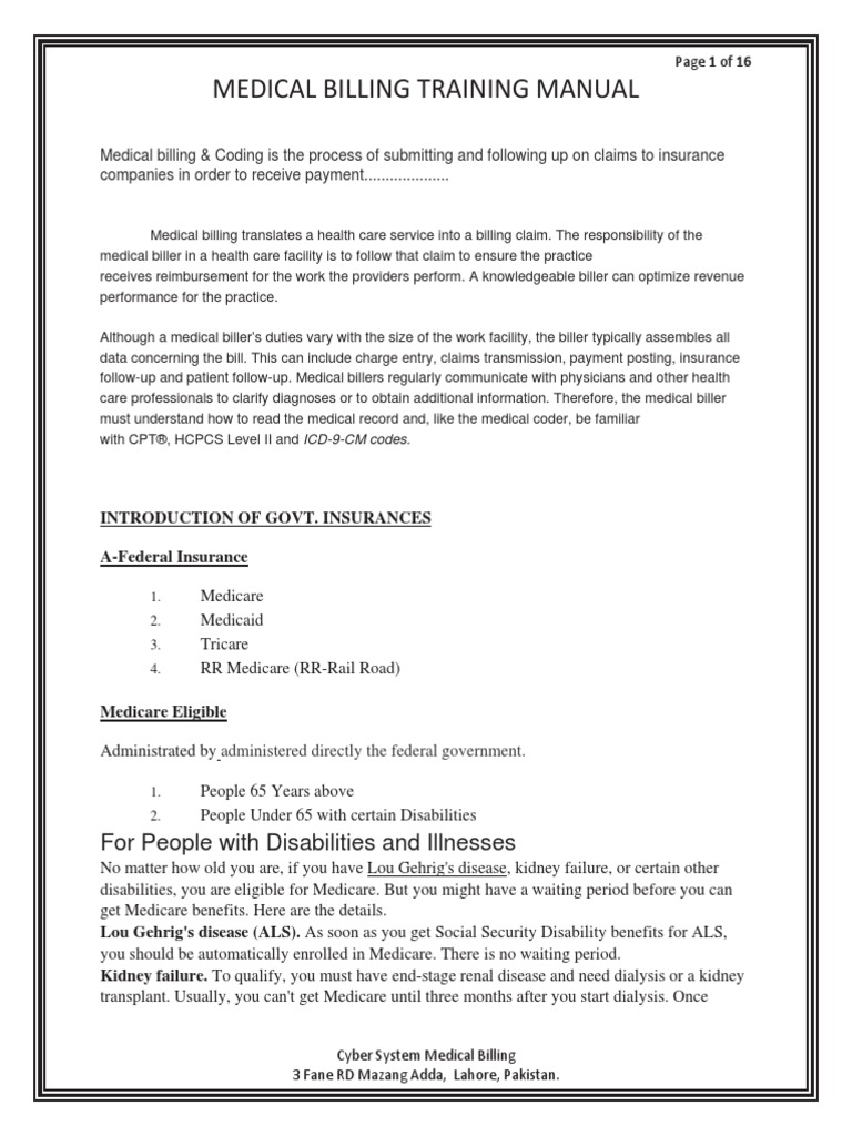 Training Manual (New) | Medicare (United States) | Consolidated Omnibus  Budget Reconciliation Act Of 1985