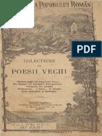 Colecţiune de Poesii Vechi