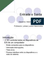 Entrada e Saída (Sistemas Operacionais)