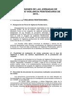 Circular Fiscalía 62-2015 Sobre Las Conclusiones de Las Jornadas de Fiscales de Vigilancia Penitenciaria 2015