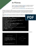 Instalación de PfSense.
