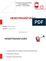 HEMOTRANSFUSÃO