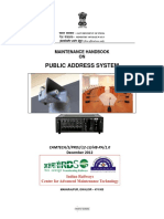 Maintenance Handbook on Public Address System(1)