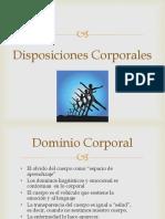 Clase Disposiciones Corporales