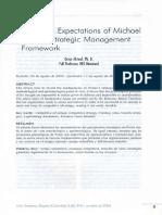 The False Expectations of Michael Porter's Strategic Management Framework / Omar Aktouf