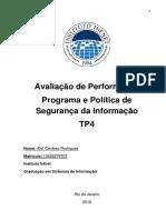 Alef Rodrigues - TP4 - 1 Entrega