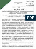 Decreto 490 Del 28 de Marzo de 2016