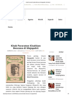 Kitab Pararaton Kisahkan Bencana Di Majapahit _ Info Misteri