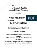 New Member Lunch Flier 2016