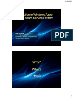 Cloud Computing Introduction to Windows Azure and the Azure Service Platform