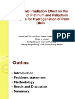 OB 4 - Ultrasonic Irradiation Effect on the Activity of Platinum and Palladium Catalysts for Hydrogenation of Palm Olein