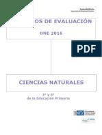Criterios de Evaluación ONE 2016 Ciencias Naturales Educación Primaria