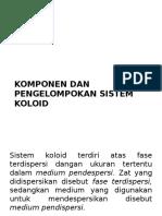 Komponen Dan Pengelompokan Sistem Koloid
