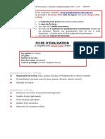 Fiche Evaluation 2013