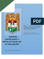 Avances, limitaciones y retos actuales de la evaluación