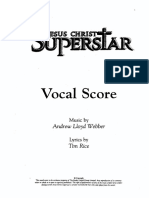 Jesus Christ Superstar Piano Vocal Score