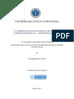 A Co-mediação Enquanto Prática de Mediação Familiar Em Portugal - Que Potencialidades
