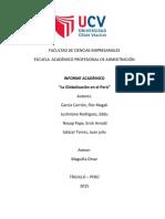 Informe Académico de la Globalización en El Perú