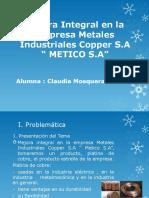 Mejora Integral en La Empresa Metales Industriales Copper