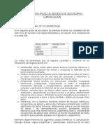 Ejemplo de Planificación Anual del Área de Comunicación