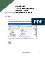 OraEdit Documentation 1.0.6