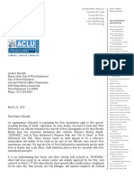 NCAC ACLU Letter to Mayor Lindsey Horvath