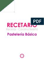 Recetario Instecom Pasteleria Basica