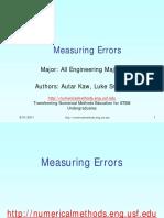 Errors in Numerical Methods