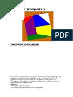 Actividad de Manipulacion.puzzle de Semejanza y Proporcionalidad
